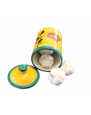 Töpfchen mit Deckel - Knoblauch & Nüsse optimal lagern