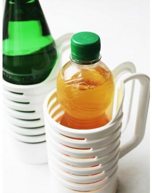 Flaschenhalter 2 tlg SET. Leichter gießen Halter mit großen Henkel