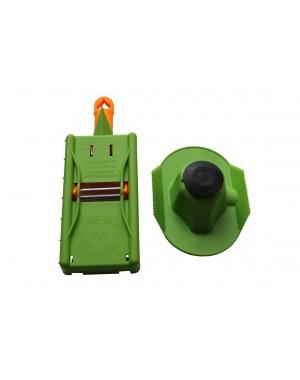 HerzSchäler mit 2 Klingen + Hobelplatte + Fingerschutz Set zum Schälen, Julienneschneiden, Hobeln