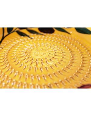 Keramik - Schale mit Reibeboden Salatschüssel Bowl zum feinen Reiben von Knoblauch, Ingwer usw.  Ø 18 cm