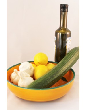 Tsatsiki-Schale mit Reibeboden für Knoblauch, das Original aus Andalusien