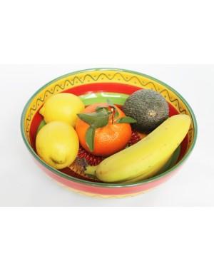 Keramikschale Salatschüssel Bowl mit Reibeboden zum feinen Reiben von Knoblauch, Ingwer usw.  Ø 18 cm
