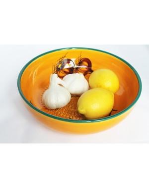 Zaziki-Schale Schüssel mit Reibeboden für Knoblauch, das Original aus Andalusien