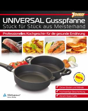 Gusstopf Bratentopf ø 28 cm 17 cm hoch 8,5 L Volumen mit  backofenfesten Griffen Profikochgeschirr hergestellt in Deutschland