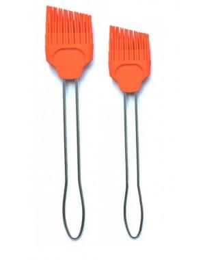 2 tlg SET Silikon Pinsel farbenfroh und praktisch